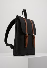 Enter - CITY BACKPACK MINI FRONT STRAPS - Reppu - black - 3