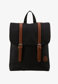 Enter - CITY BACKPACK MINI FRONT STRAPS - Reppu - black - 5