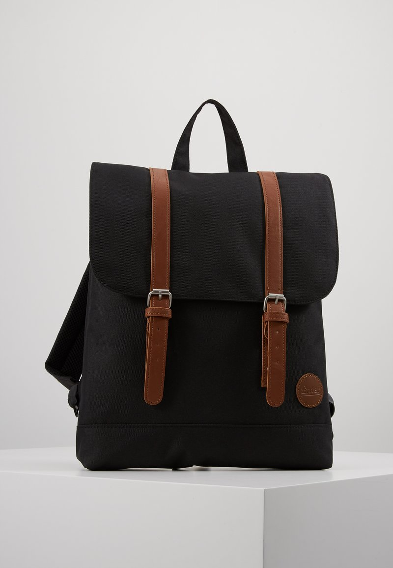 Enter - CITY BACKPACK MINI FRONT STRAPS - Reppu - black