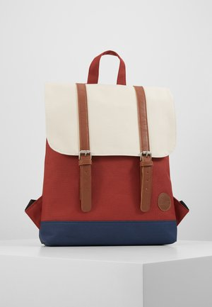 CITY BACKPACK MINI FRONT STRAPS - Reppu - rust/navy/natural