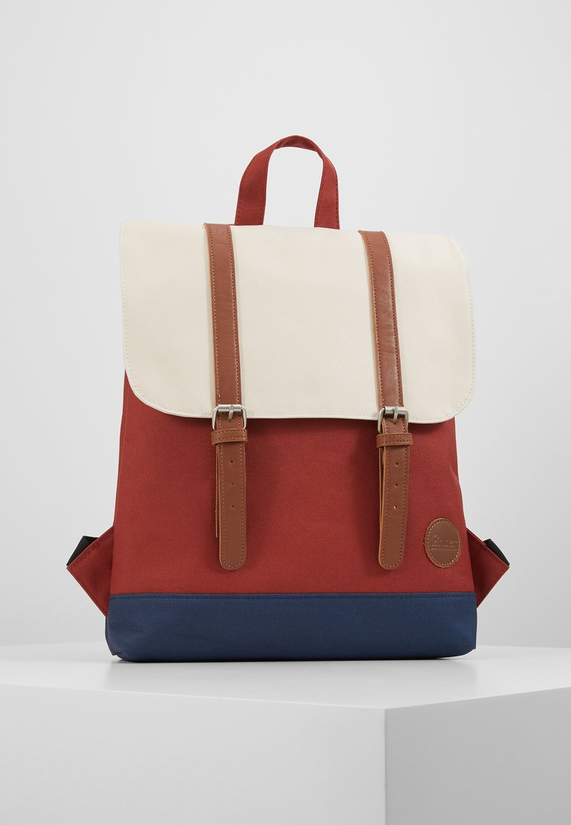 Enter - CITY BACKPACK MINI FRONT STRAPS - Tagesrucksack - rust/navy/natural