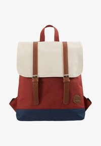 Enter - CITY BACKPACK MINI FRONT STRAPS - Tagesrucksack - rust/navy/natural - 5