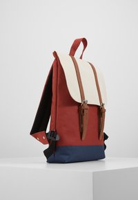 Enter - CITY BACKPACK MINI FRONT STRAPS - Tagesrucksack - rust/navy/natural - 3