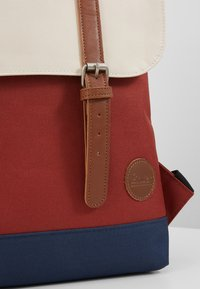 Enter - CITY BACKPACK MINI FRONT STRAPS - Tagesrucksack - rust/navy/natural - 6