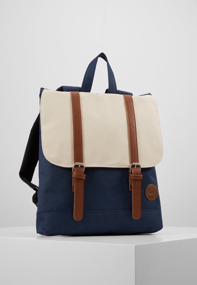 CITY BACKPACK MINI - Rucksack - navy/natural top
