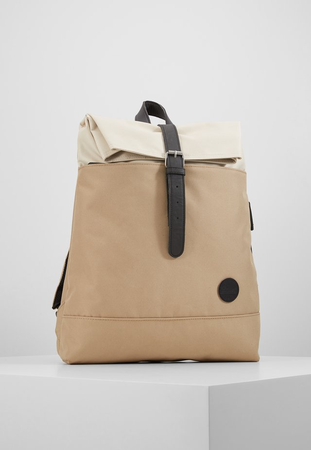 FOLD TOP BACKPACK - Rucksack - khaki/natural