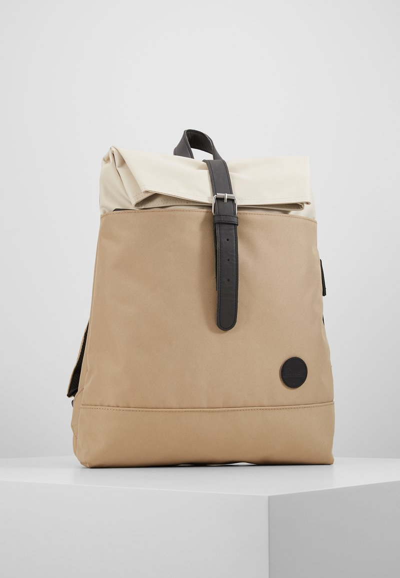 Enter - FOLD TOP BACKPACK - Rygsække - khaki/natural