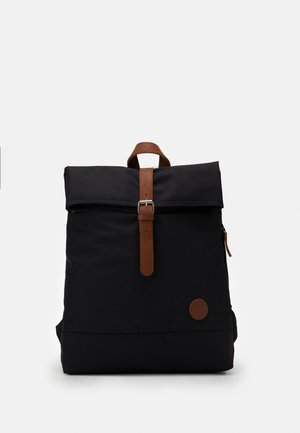 FOLD TOP BACKPACK - Rucksack - black recycled
