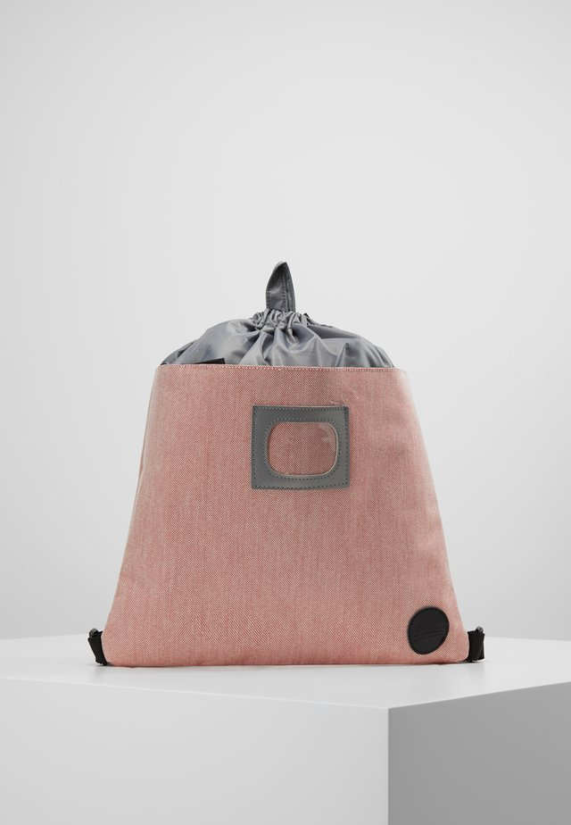 DRAWSTRING BACKPACK - Rucksack - melange red