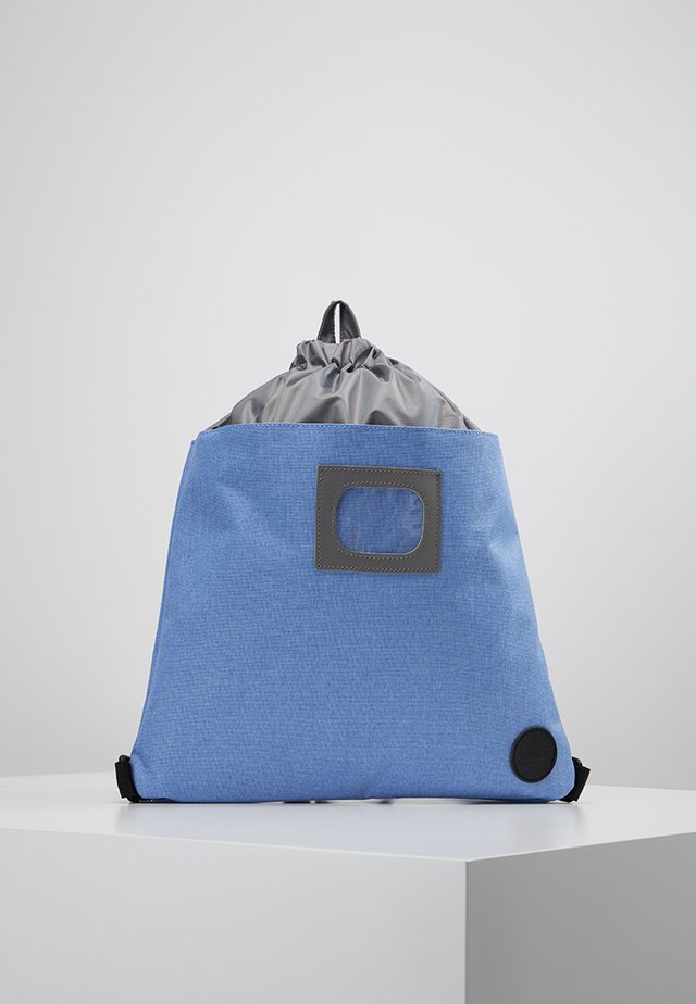 DRAWSTRING BACKPACK - Tagesrucksack - melange blue