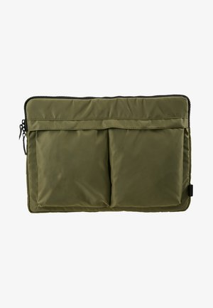 HELMET SLEEVE TWO POCKET - Laptop bag - army green heavy