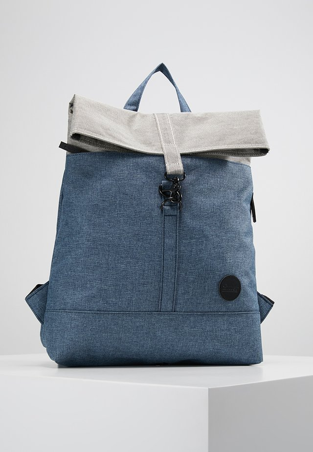 CITY FOLD TOP BACKPACK - Rucksack - melange navy/melange black top
