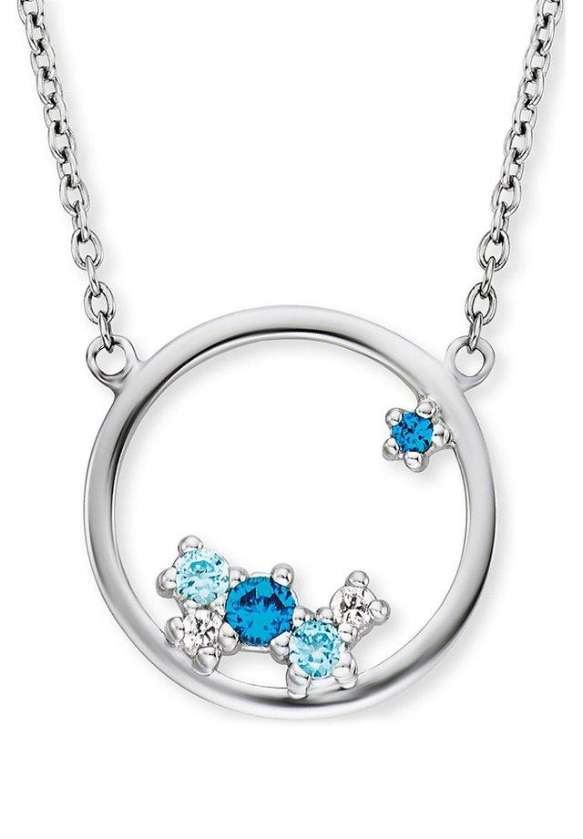 Halskette - silber/blau