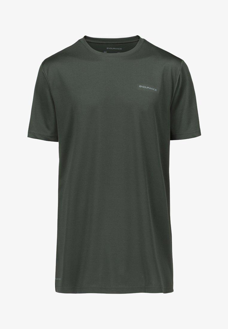 Endurance - MIT REFLEKTIERENDEM PRINT - Basic T-shirt - green