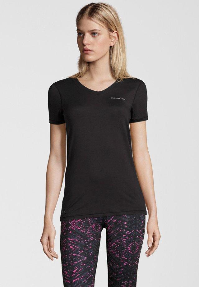 MIT QUICK DRY-TECHNOLOGIE - Basic T-shirt - black