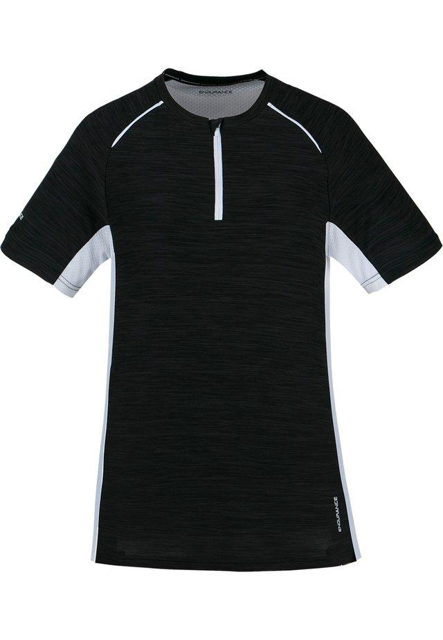 DENY W ACTIV QXL - Print T-shirt - 1001m black/white