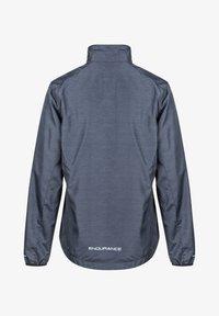 Endurance - KANIE W MELANGE - Training jacket - 1111 black melange - 1