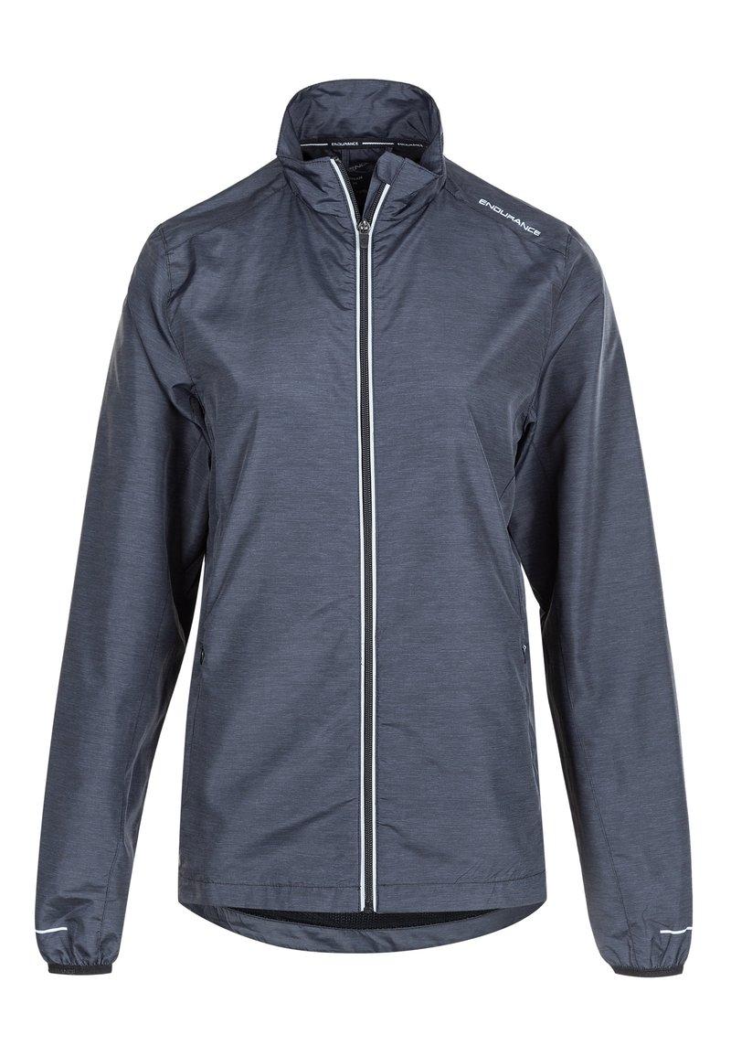 Endurance - KANIE W MELANGE - Training jacket - 1111 black melange