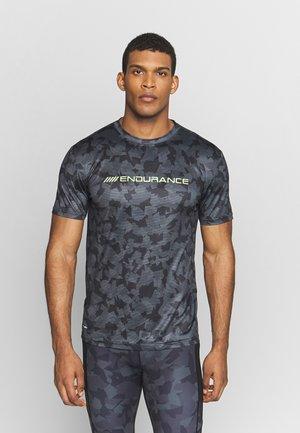 DIEN PRINTED TEE - T-shirt med print - black