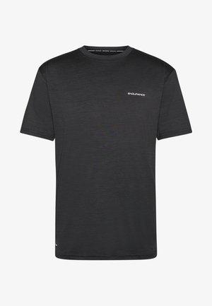 MELANGE TEE - T-shirt - bas - black
