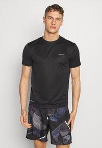 Endurance - VERNON PERFORMANCE TEE - T-Shirt basic - black - 0
