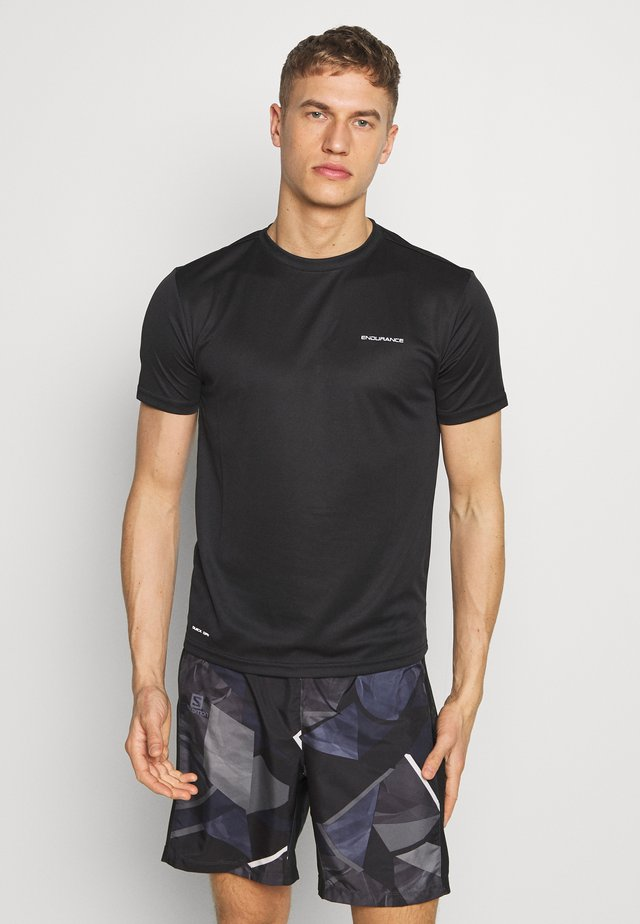 VERNON PERFORMANCE TEE - T-shirt - bas - black