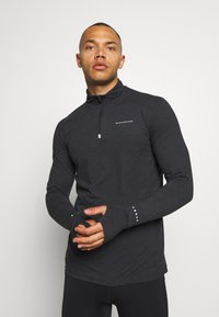 Endurance - ABBAS PRINTED MIDLAYER - Funktionsshirt - black - 0