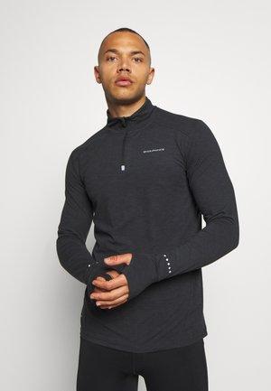 ABBAS PRINTED MIDLAYER - Sports shirt - black