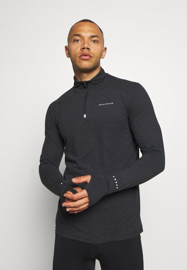 ABBAS PRINTED MIDLAYER - Sports shirt - black