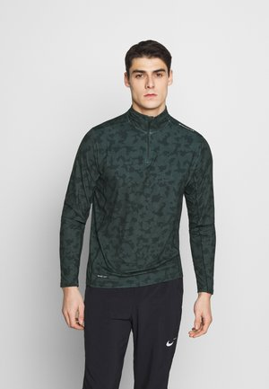 ABBAS PRINTED MIDLAYER - T-shirt de sport - black