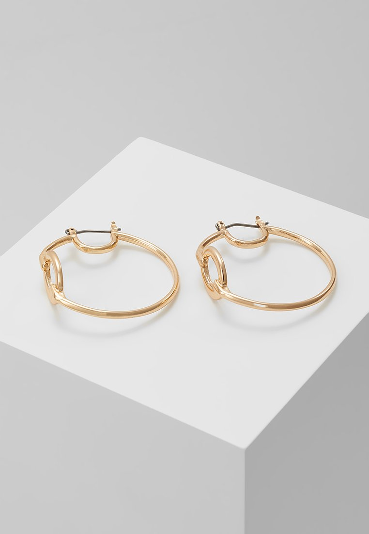 ERASE - OVAL LINK HOOP - Náušnice - gold-coloured