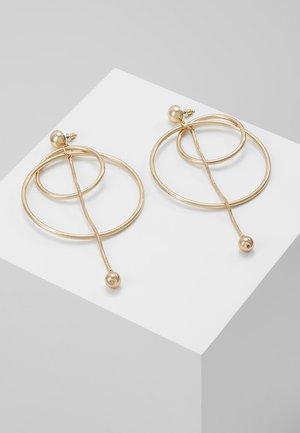 LARGE HOOP CHAIN DROP - Boucles d'oreilles - gold-coloured