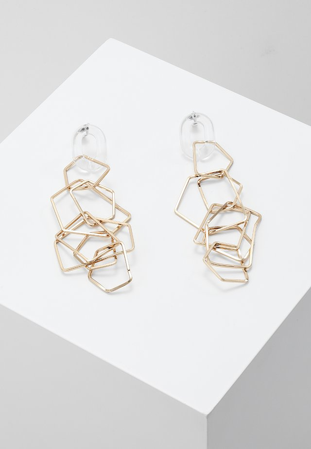 GEO DROPS - Earrings - gold-coloured