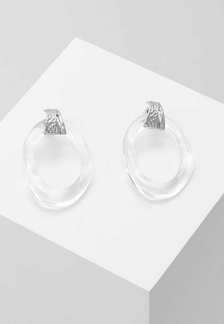 ERASE - OPEN STUDS - Earrings - silver-coloured