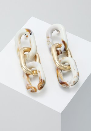 CHAIN DROPS - Earrings - gold-coloured