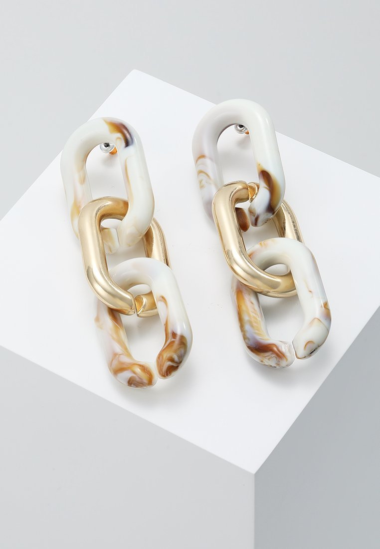 ERASE - CHAIN DROPS - Earrings - gold-coloured