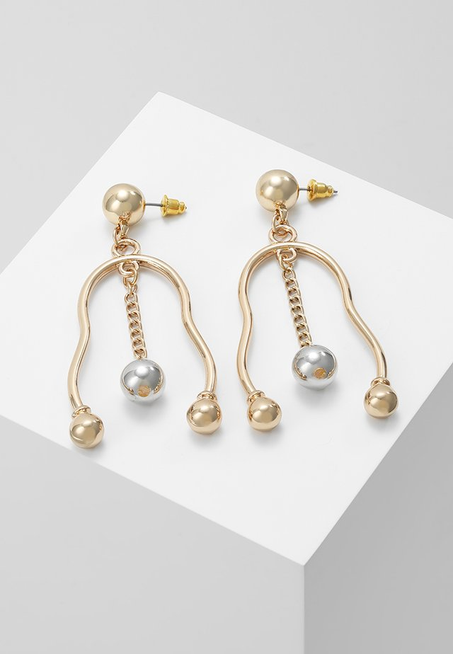 BALL CHAIN MOBILE DROPS - Earrings - gold-coloured