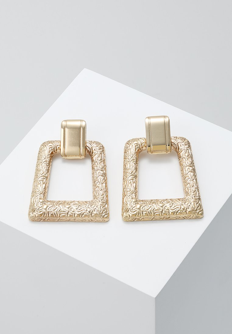 ERASE - TEXTURED STATEMENT DROPS - Ohrringe - gold-coloured