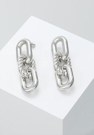 CHAIN LINKS - Earrings - silver-coloured