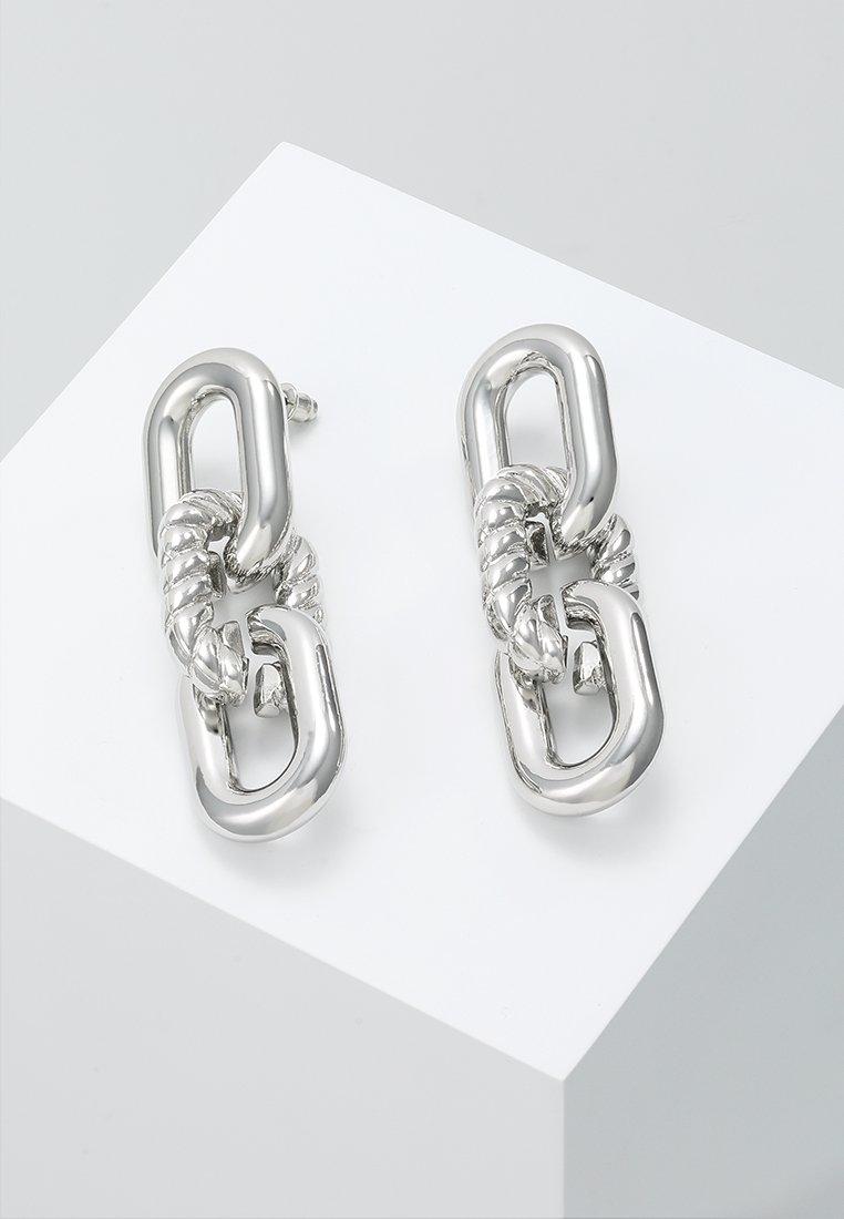 ERASE - CHAIN LINKS - Örhänge - silver-coloured