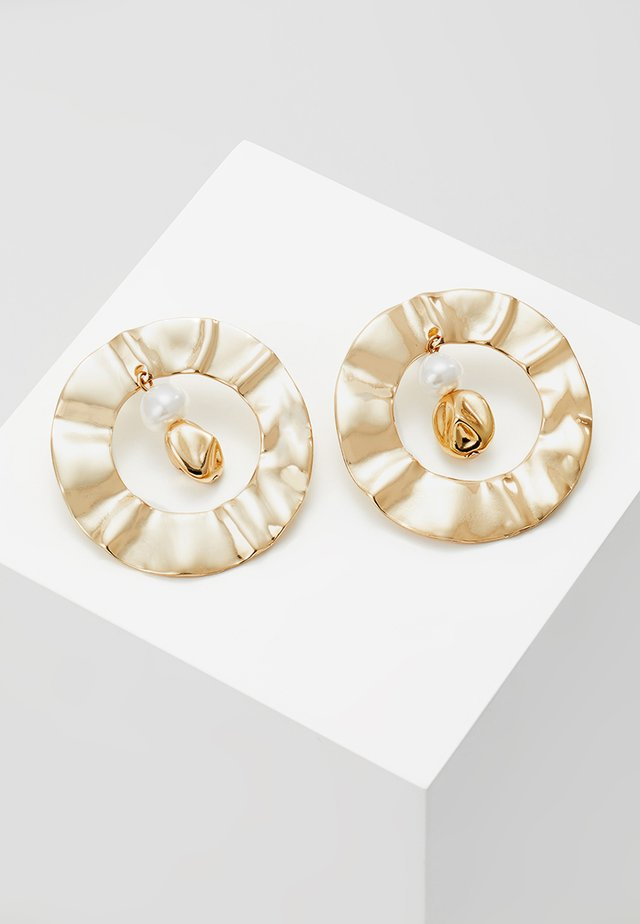 ROUND OPEN DROP STUD - Earrings - gold-coloured