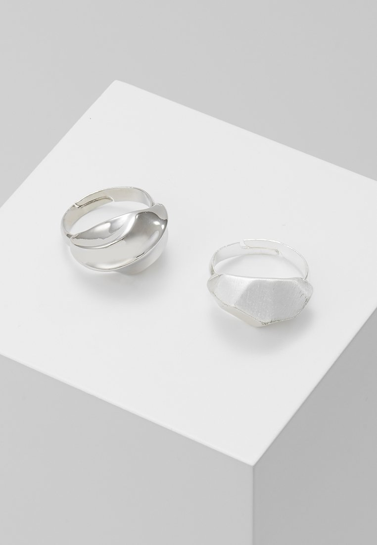ERASE - CHUNKY 2 PACK - Ring - silver-coloured