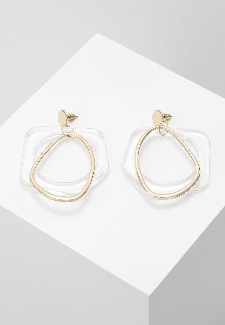 ERASE - ORGANIC DROP HOOP - Earrings - gold-coloured