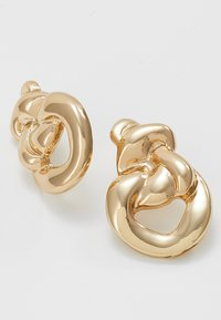 ERASE - MOLTEN KNOT STATEMENT STUDS - Earrings - gold-coloured - 4