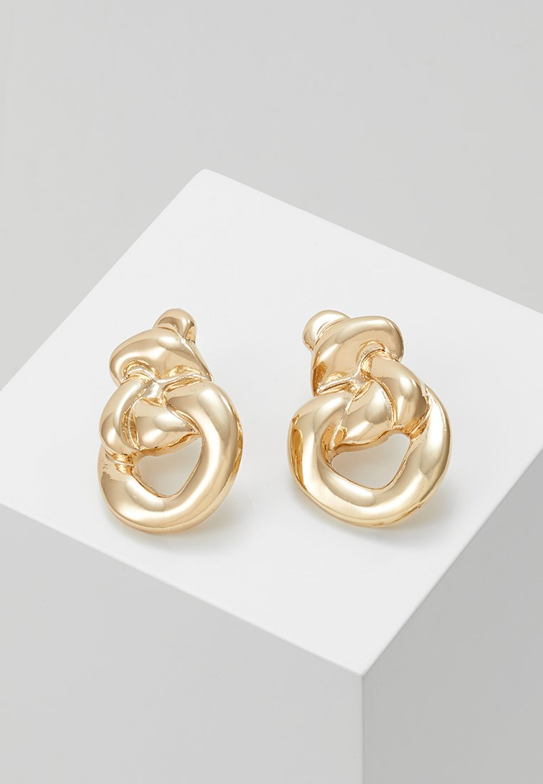 ERASE - MOLTEN KNOT STATEMENT STUDS - Earrings - gold-coloured