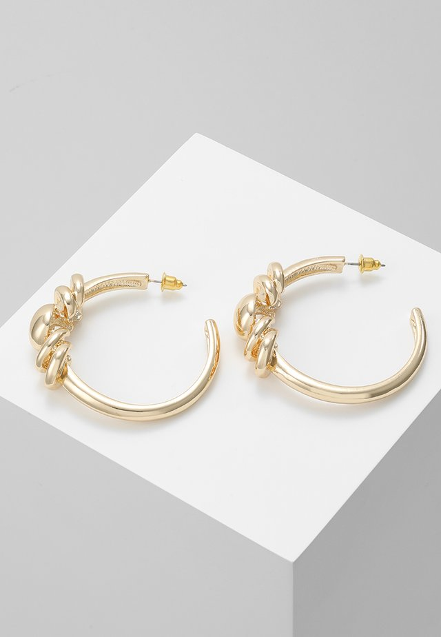 FRONT DETAIL TUBE HOOPS - Øreringe - gold-coloured