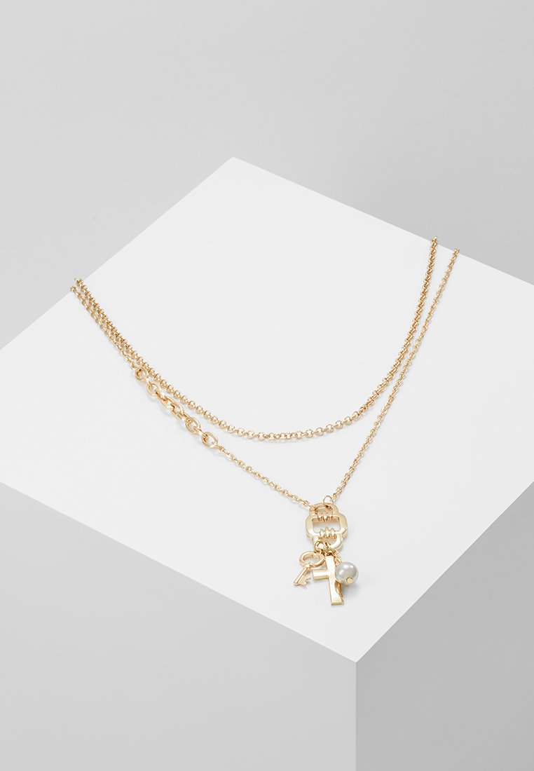 ERASE - KEY CROSS CLUSTER MULTIROW - Necklace - gold-coloured
