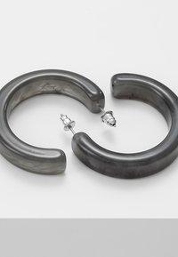 ERASE - HOOPS - Earrings - grey - 2