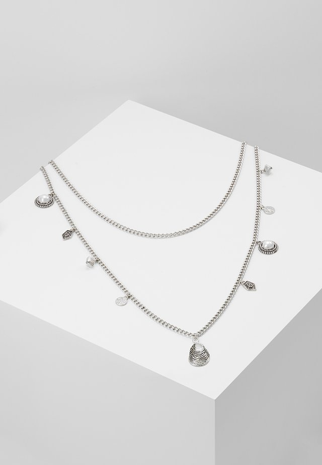 PEARL AND SHEL MULTI LAYER 2 PACK - Necklace - silver-coloured