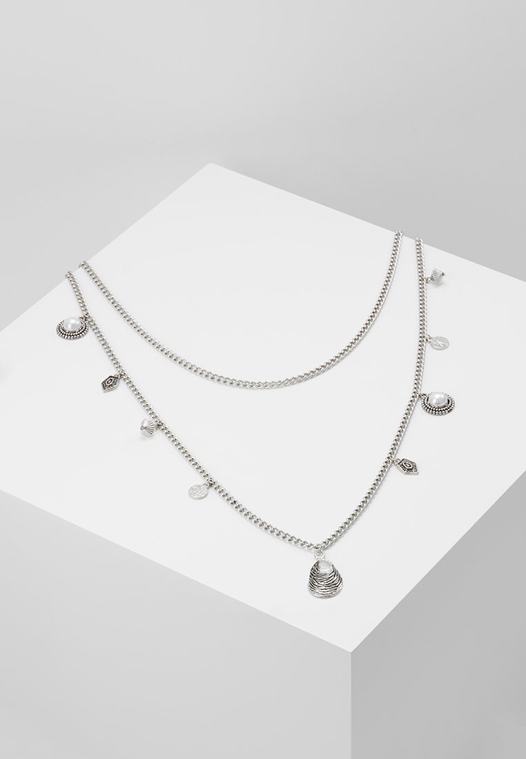 ERASE - PEARL AND SHEL MULTI LAYER 2 PACK - Necklace - silver-coloured